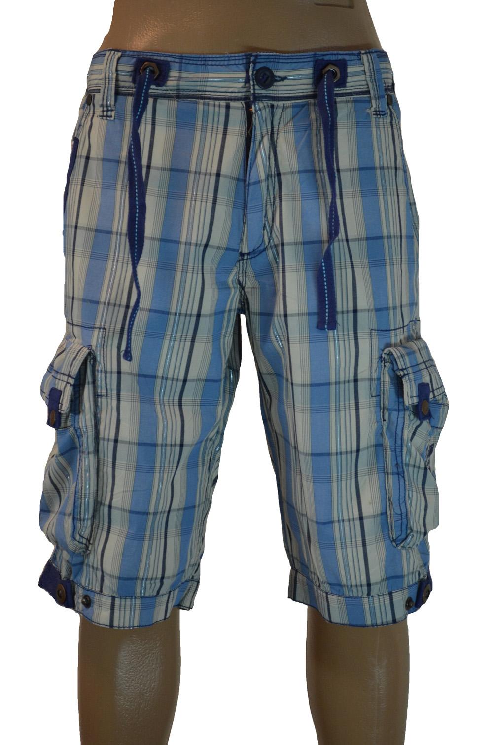 Клетчатые шорты Gangster Unit GU.