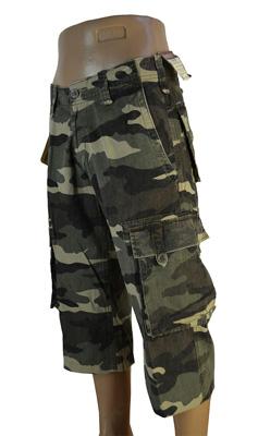 мужские камуфляжные шорты (милитари)