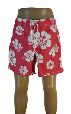 Короткие мужские пляжные шорты
